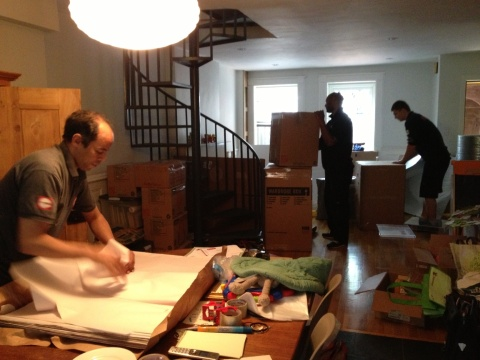 The movers at work